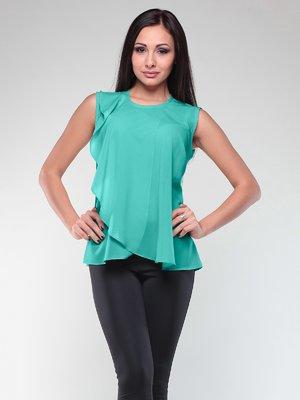 Блуза ментолового кольору | 2067902