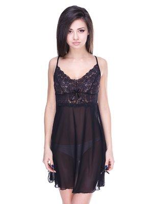 Рубашка ночная черная | 2067599