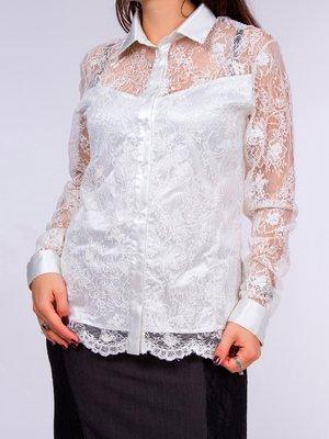 Блуза біла ажурна - Cornett-ВОЛ - 2072097