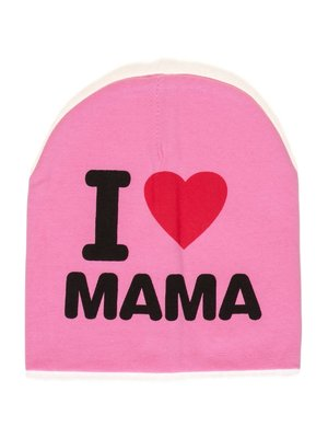 Шапка розовая I love mama   2073974