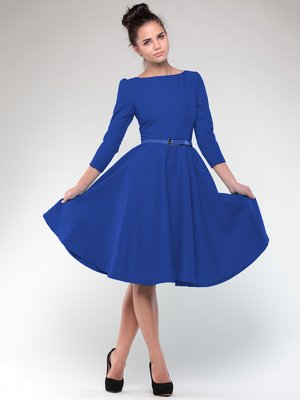 Сукня кольору електрик | 2076009