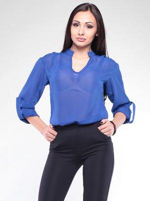 Блуза кольору електрик | 2076046
