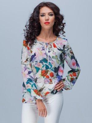 Блуза квіткового забарвлення | 2076253