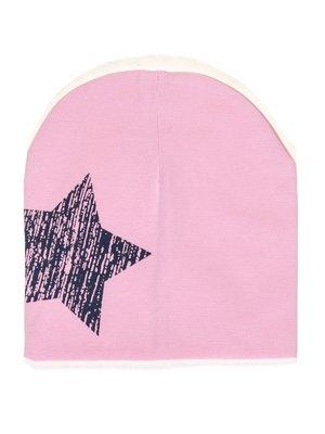 Шапка розовая со звездой   2073919