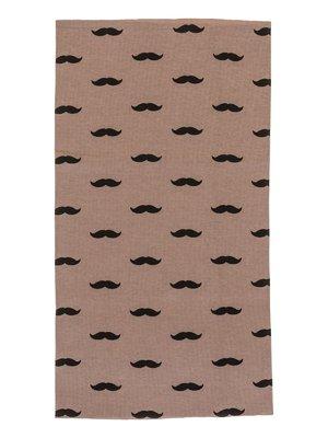 Шарф-снуд коричневий в принт | 2074471