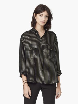 Блуза чорна у вузьку смужку | 2076523