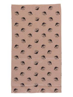 Шарф-снуд коричневий в принт | 2074460