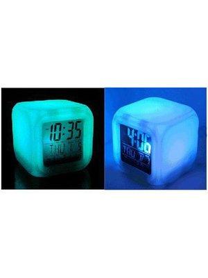 Будильник-хамелеон с термометром | 2076747