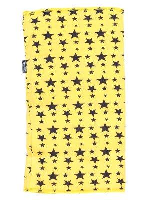 Шарф-снуд желтый в принт | 2074372