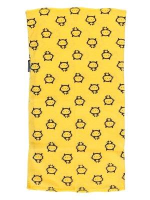 Шарф-снуд желтый в принт | 2074501