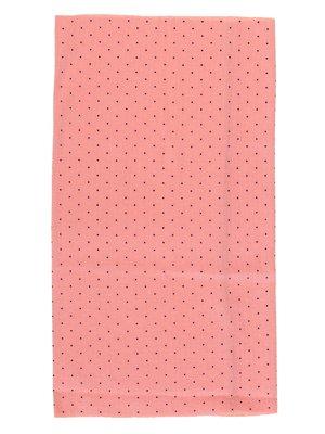 Шарф-снуд светло-розовый в горох | 2074496