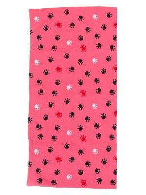 Шарф-снуд рожевий в принт | 2074449