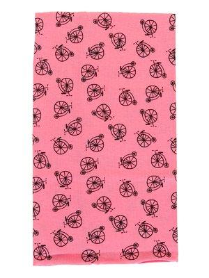 Шарф-снуд рожевий в принт | 2074489