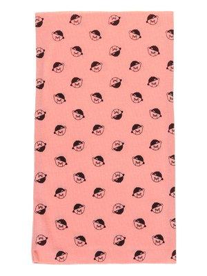 Шарф-снуд рожевий в принт | 2074461