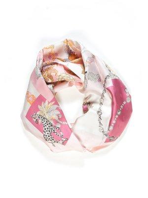 Хустка рожева з принтом | 1750851