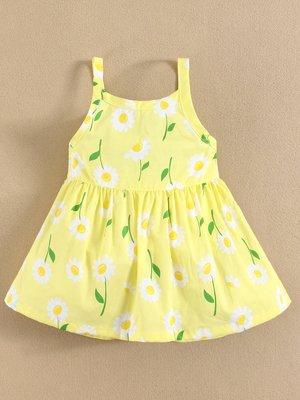 Сукня жовта в квітковий принт | 2088634