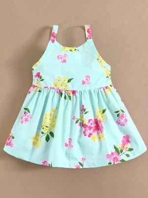 Сукня блакитна в квітковий принт | 2088635