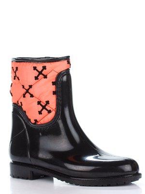 Сапоги черно-оранжевые | 2096734