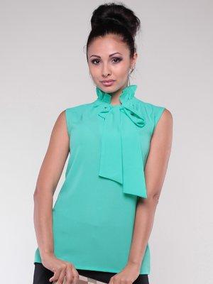 Блуза ментолового кольору | 2067827