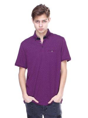 Футболка-поло фіолетова | 2098931