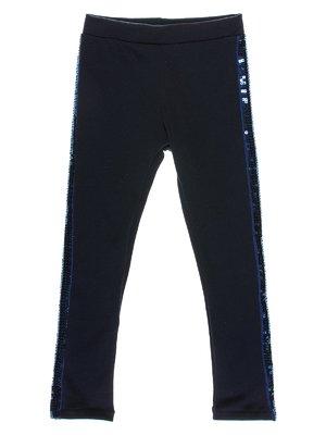 Леггинсы темно-синие с декором | 2094586