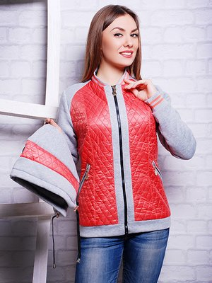 Куртка серо-коралловая | 2110518