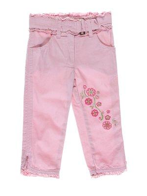 Штани рожеві з вишивкою | 2098291