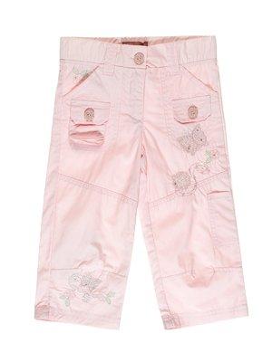 Штани світло-рожеві з вишивкою | 2098299