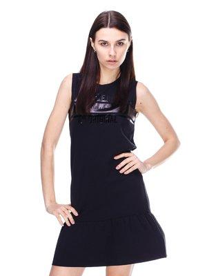 Сукня чорна з принтом | 2112744