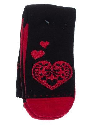Носки черные в рисунок | 2108725