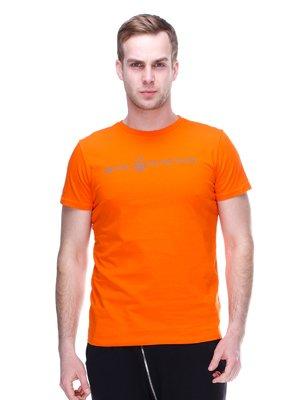 Футболка оранжевая с принтом | 2112727
