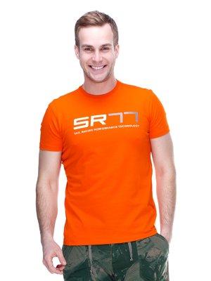 Футболка оранжевая с принтом | 2112722