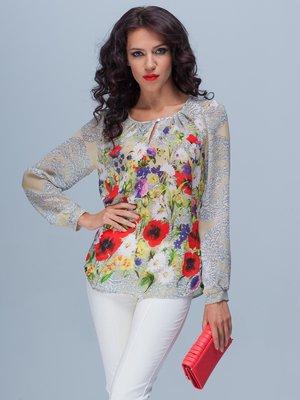 Блуза в квітковий принт | 2119025