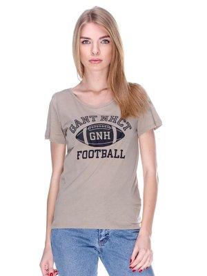 Футболка бежева з принтом | 2112480