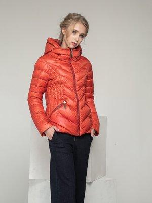 Куртка терракотовая в принт | 2107001