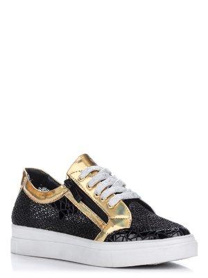 Туфлі чорно-золотисті | 2108519
