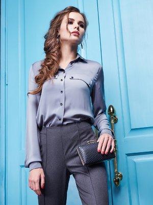 Блуза графітового кольору | 2148416