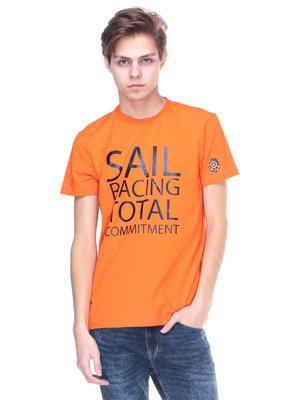 Футболка оранжевая с надписью | 2146630