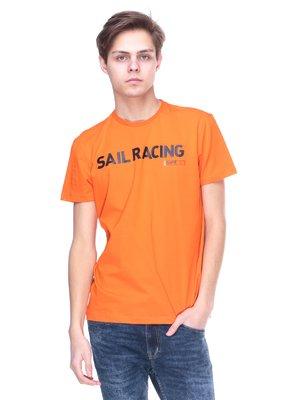 Футболка оранжевая с надписью | 2146612