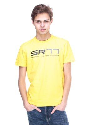 Футболка желтая с надписью | 2146638
