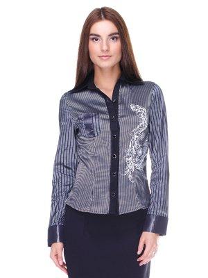 Блуза в смужку з принтом   2150020