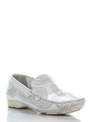 Туфли белые перфорированные | 2155602