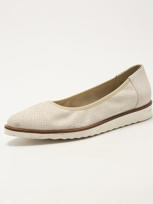 Туфли бело-бежевые с узором | 2162333