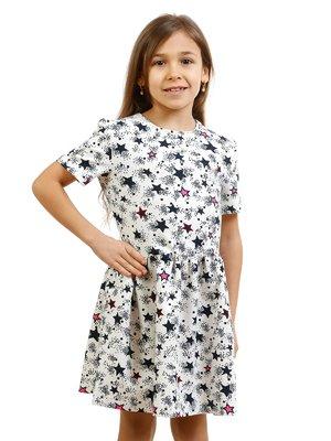 Платье молочного цвета в принт | 2171374