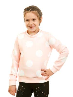 Джемпер ніжно-рожевого кольору в горох | 2171384