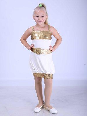 Платье белое с декором | 2180610