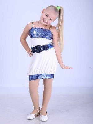 Сукня біла з декором | 2180611