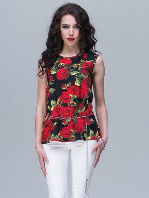 Блуза цветочной расцветки   2180482