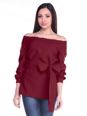 Блуза сливового цвета с поясом | 2170373