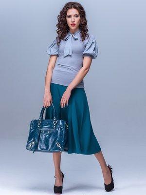 Блуза серо-голубая   1752536